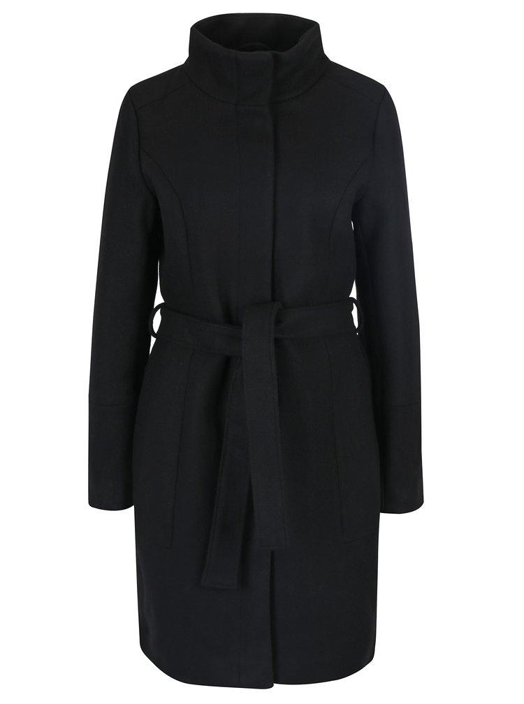 Čierny vlnený kabát VILA Bee