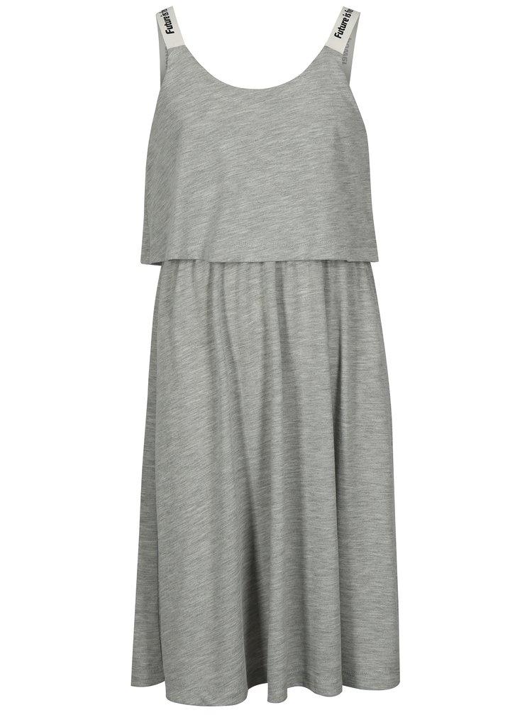 Šedé holčičí šaty na ramínka LIMITED by name it Sinet