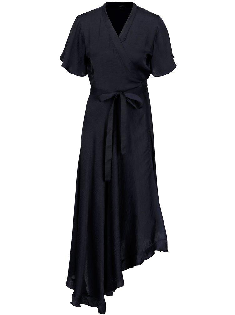 Rochie asimetrica bleumarin cu cordon in talie - VERO MODA Alanna