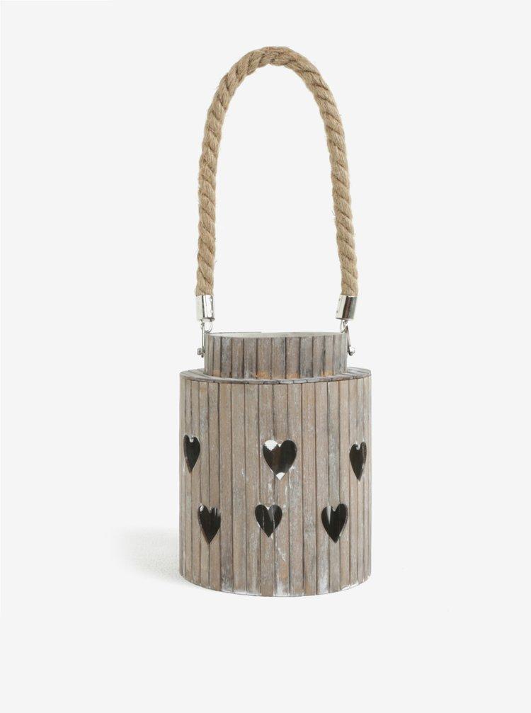 Hnedý bambusový lampáš Dakls