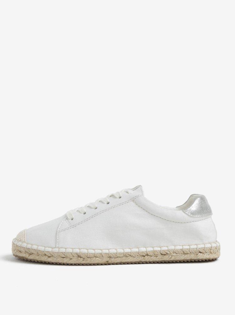 Pantofi sport albi tip espadrile pentru femei - s.Oliver