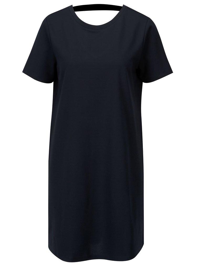 Tmavě modré šaty s výstřihem na zádech Jacqueline de Yong Catia