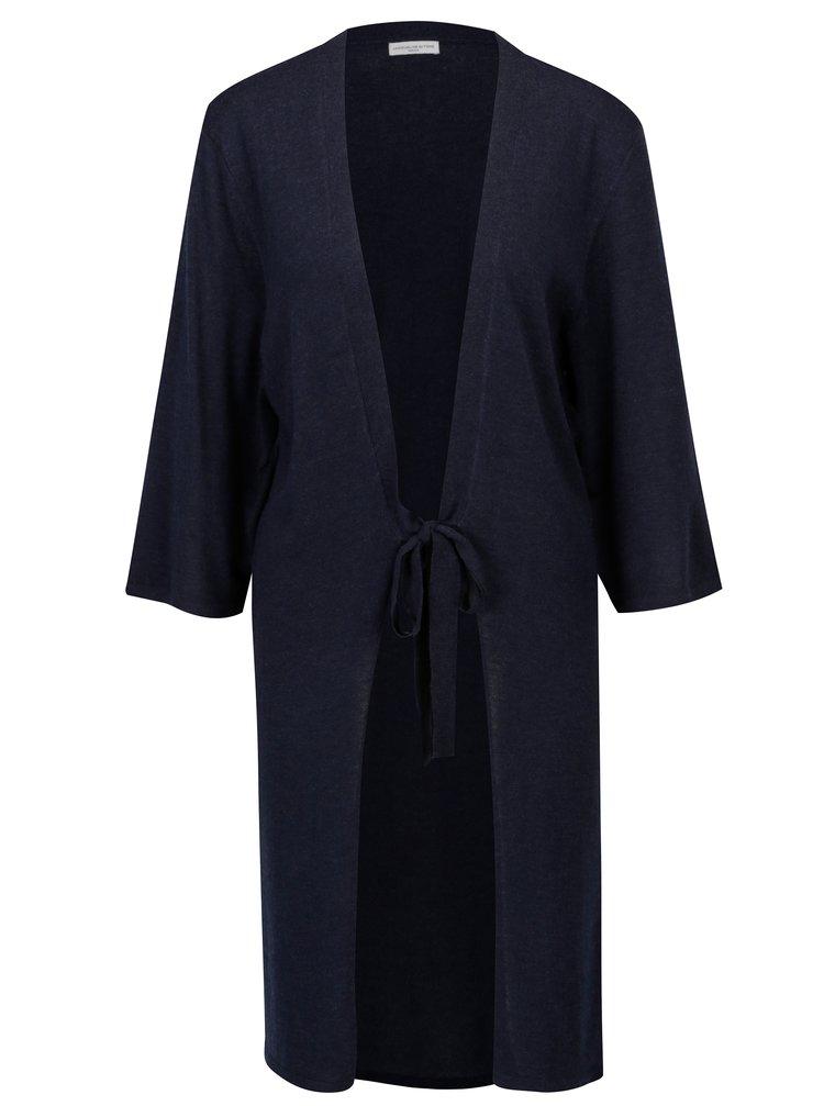 Tmavě modrý kardigan na zavazování Jacqueline de Yong Carmen
