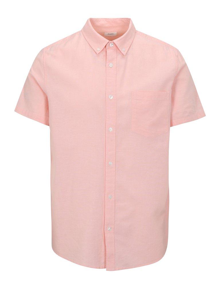 Ružová košeľa s krátkym rukávom Burton Menswear London