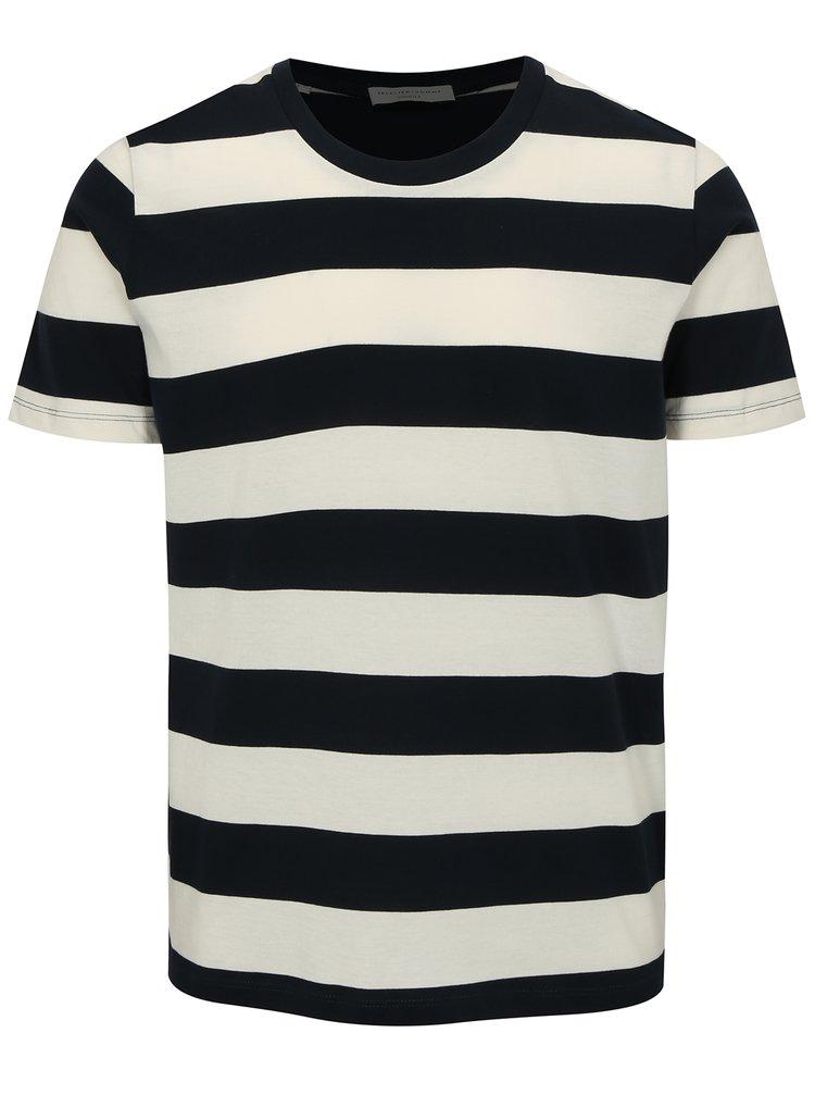Bílo-modré pruhované tričko Selected Homme The Perfect