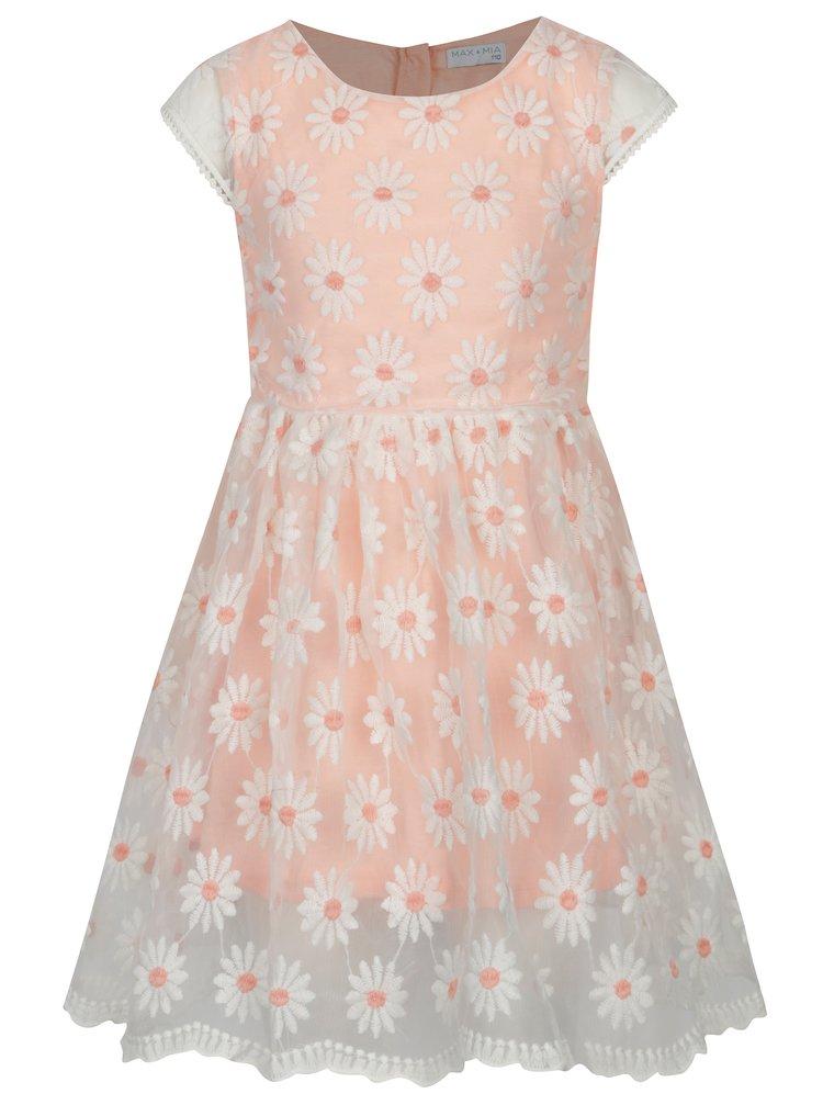 0676f5195f43 Bielo-ružové kvetované šaty 5.10.15.