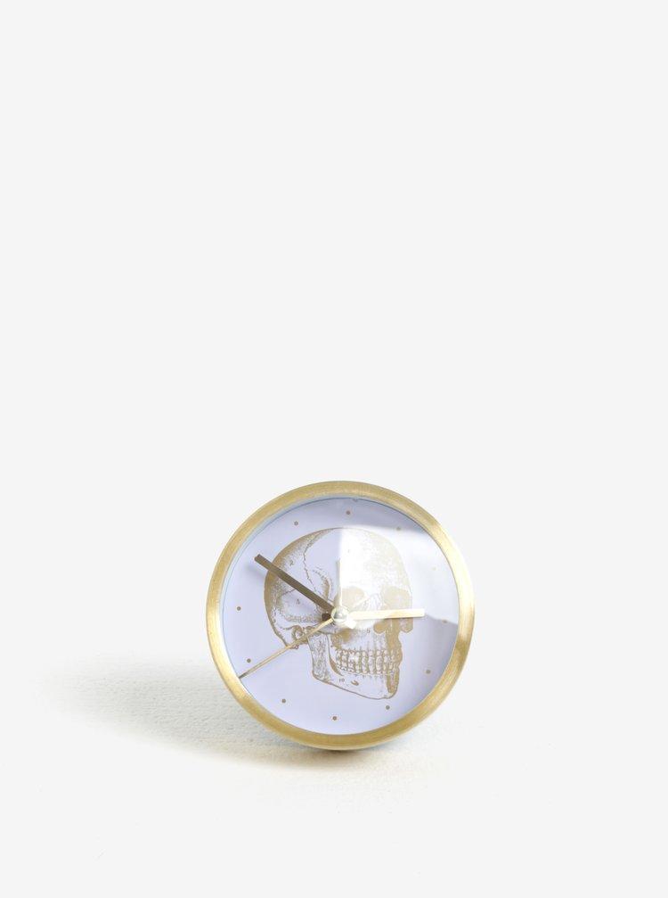 Hodiny ve zlaté barvě s motivem lebky Magpie Gold Skull