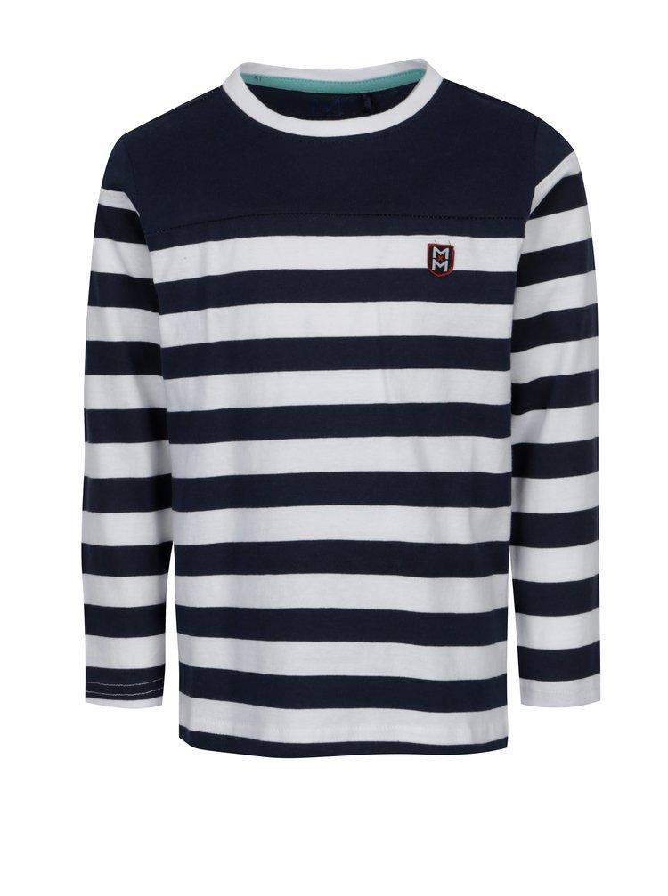Bílo-modré klučičí pruhované tričko s dlouhým rukávem 5.10.15.