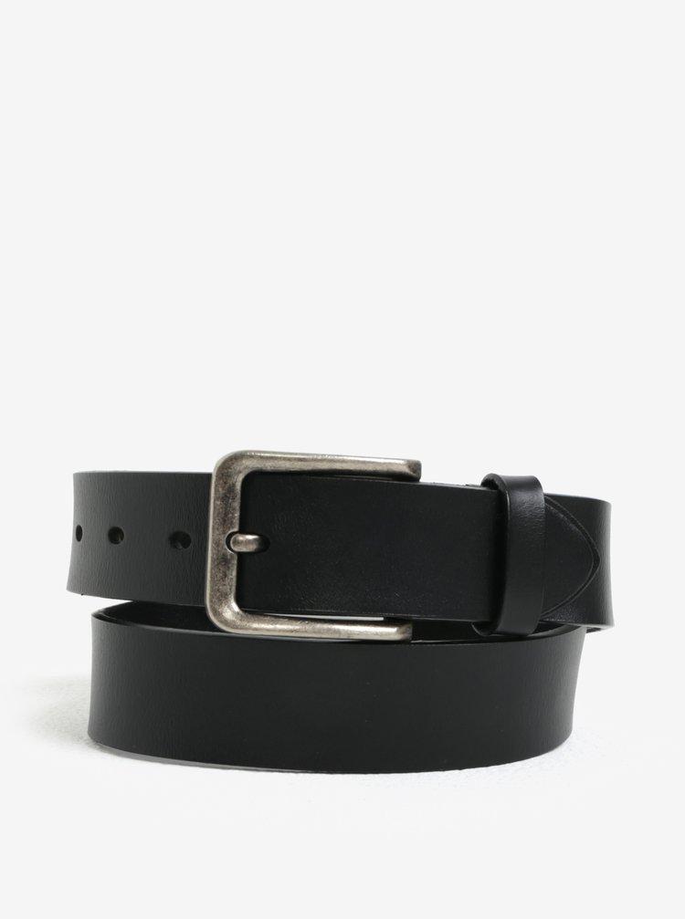 Černý kožený pásek ONLY & SONS Charlton