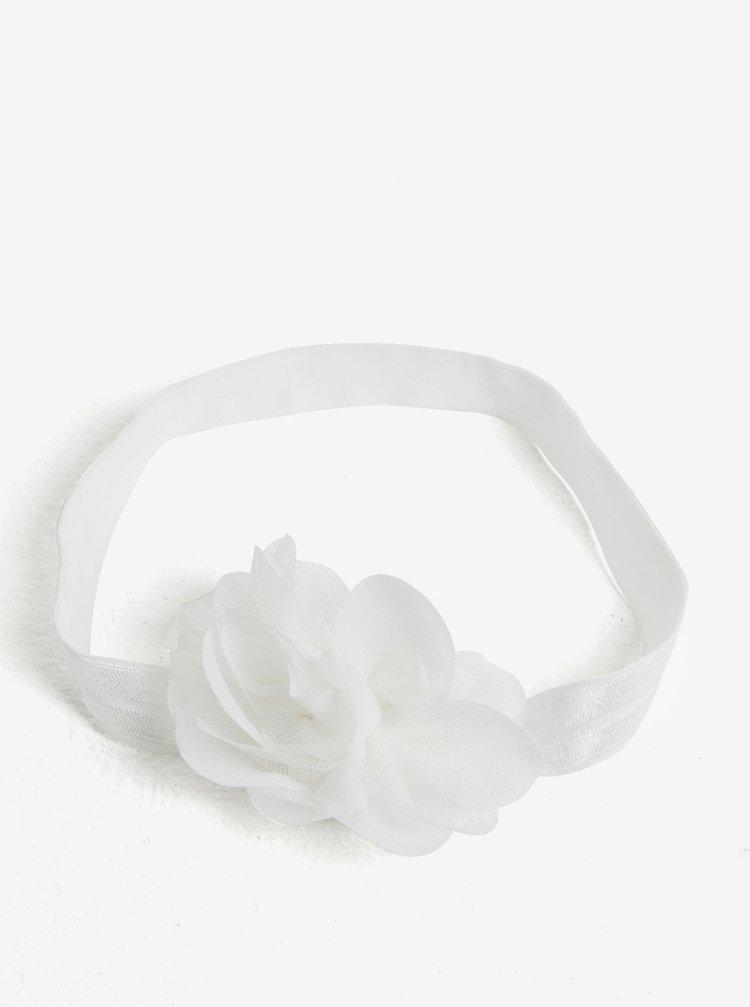 Bílá holčičí čelenka s kytičkou name it Facc-Jonori