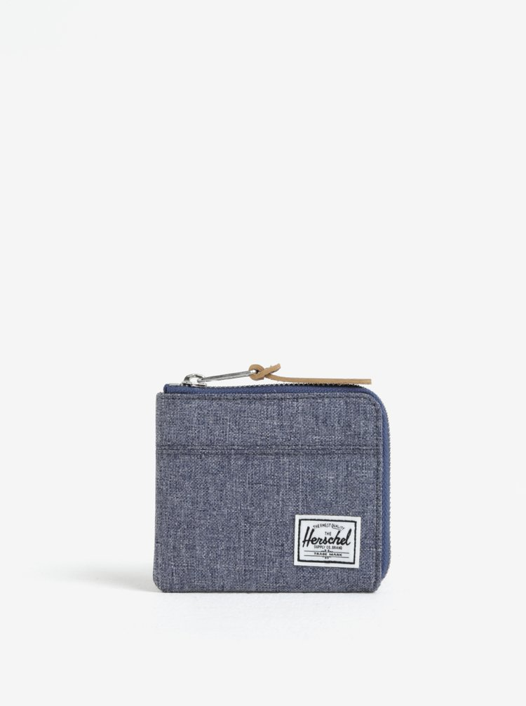 Portcard albastru din denim - Herschel Johnny