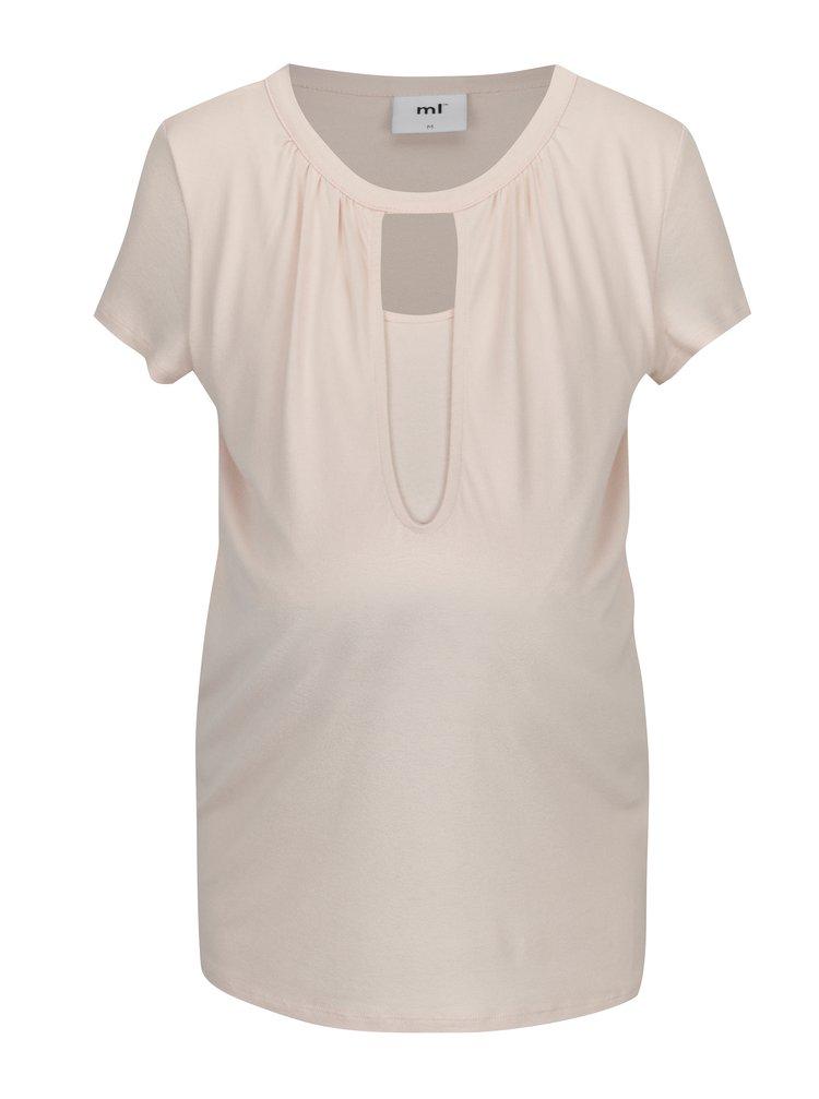 Světle růžové těhotenské/kojicí tričko Mama.licious Rie