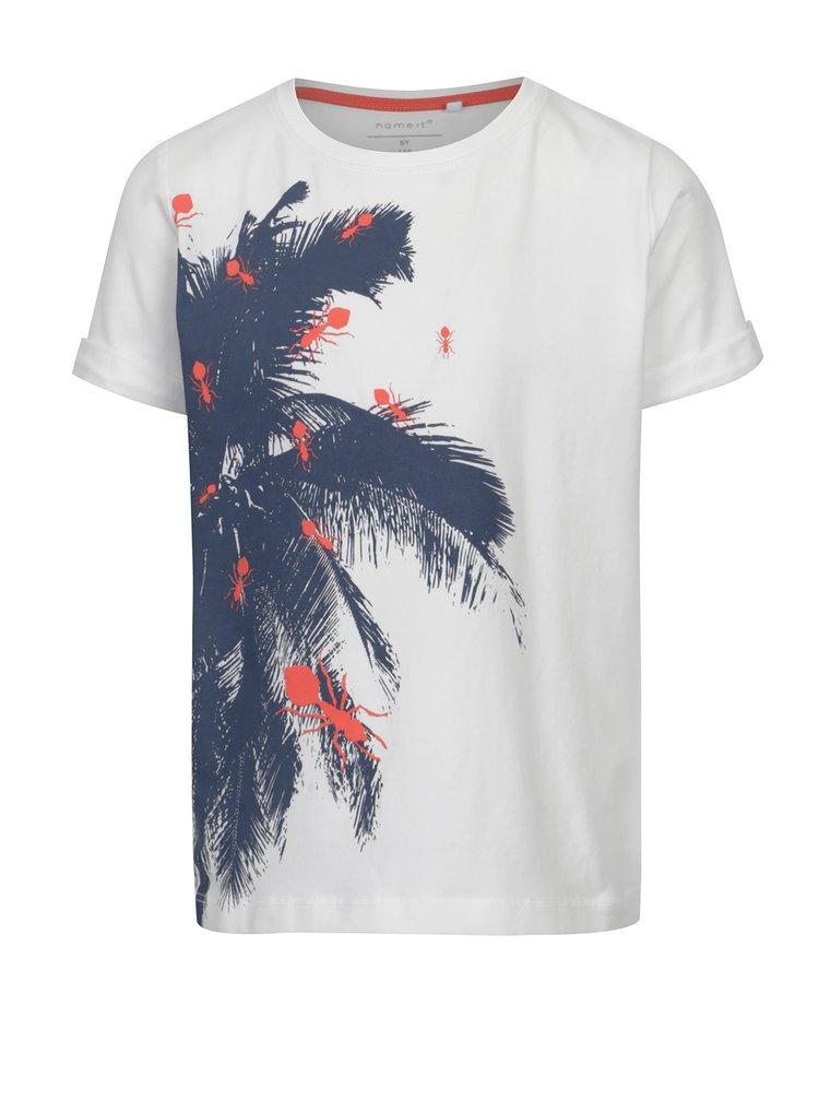 ... Bílé klučičí tričko s exotickým potiskem name it Vux 241f8f1d64