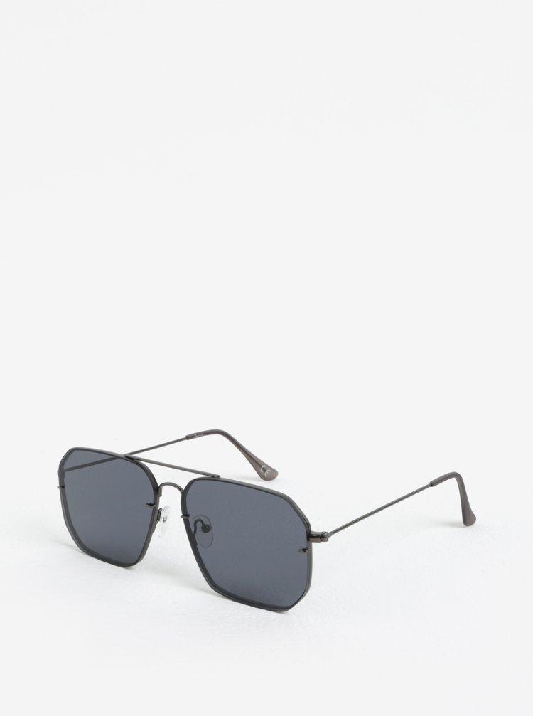 Černé hranaté sluneční brýle Jeepers Peepers