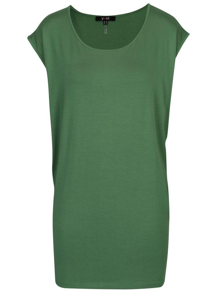 Zelené voľné tričko Yest