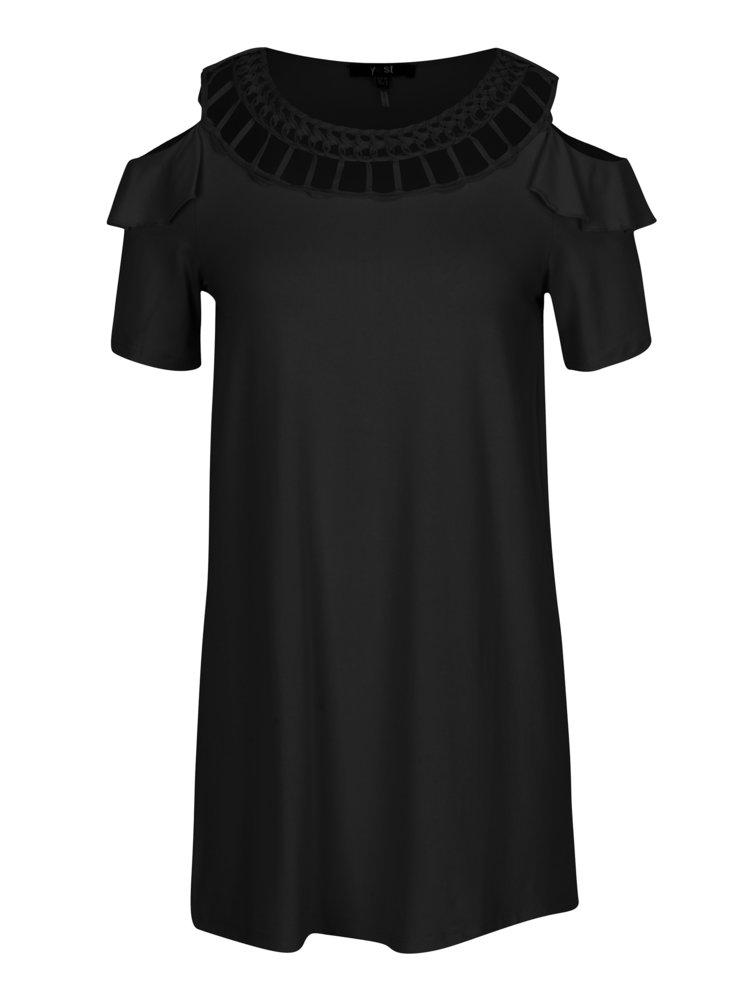 Černé tričko s průstřihy na ramenou Yest