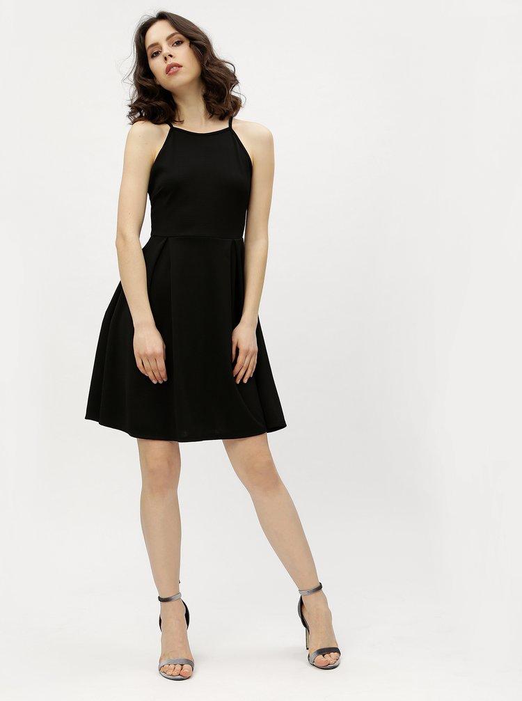 Rochie halter neagra cu model discret Haily´s Lolly