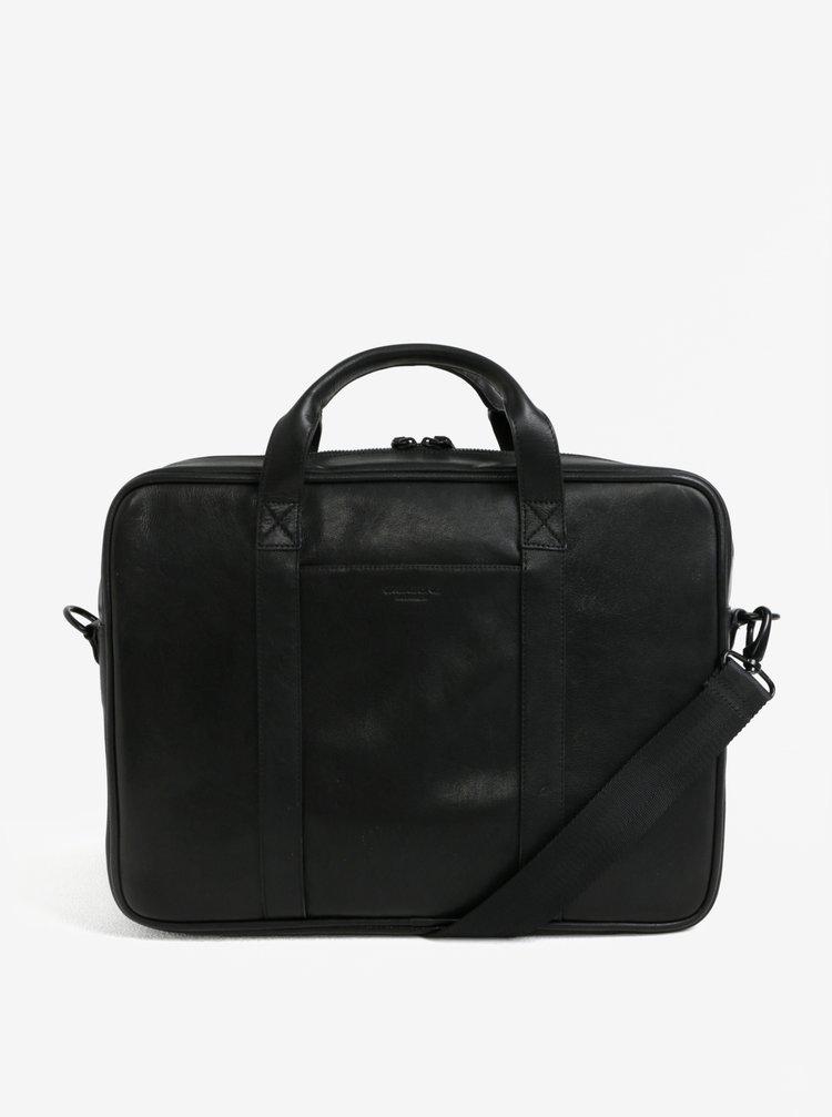 """Černá pánská kožená taška na notebook Vagabond Capri 15"""""""