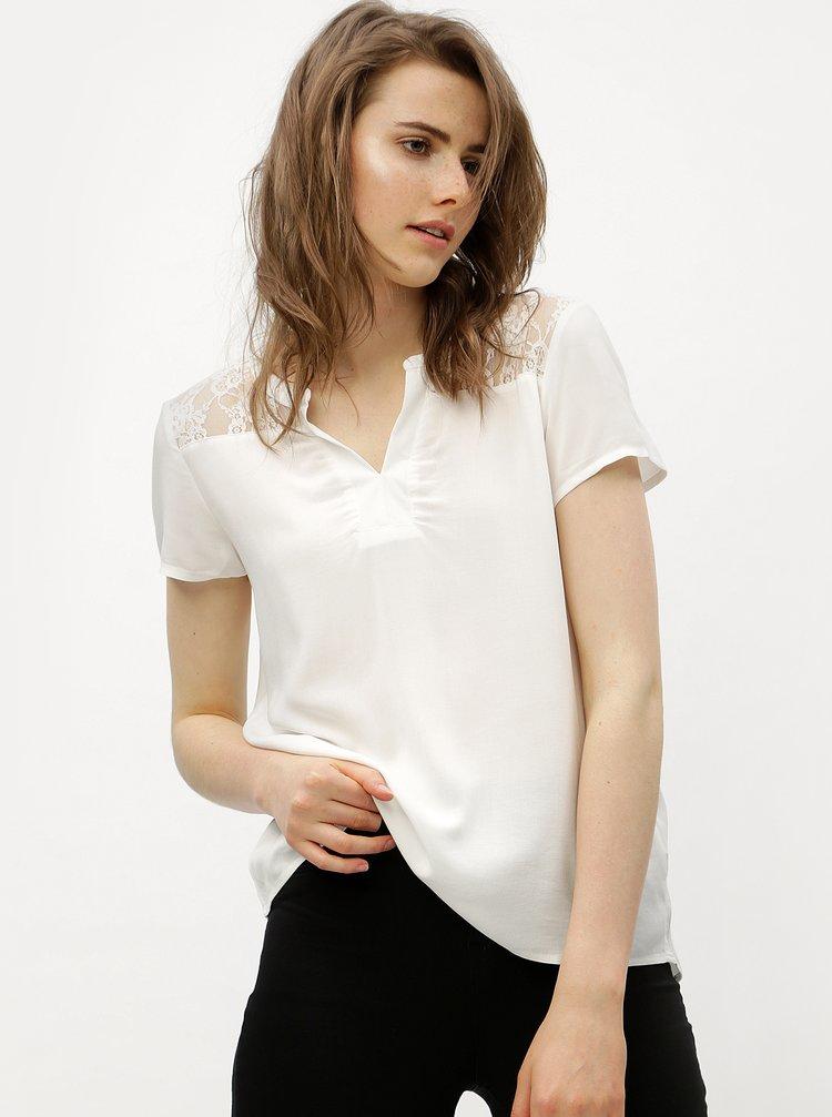 Bílá halenka s krajkovými zády VERO MODA Abby