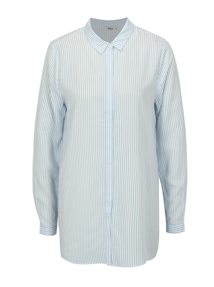 Bielo-modrá pruhovaná košeľa ONLY Glory