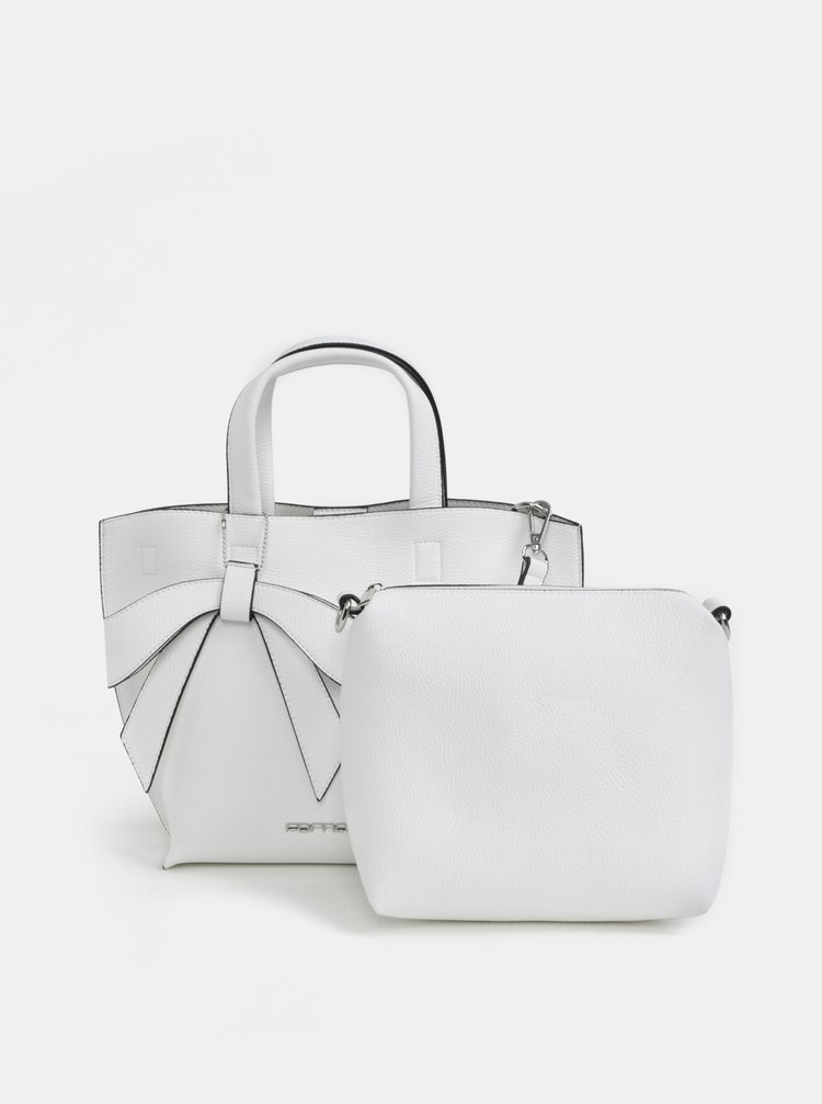 Bílá crossbody kabelka s pouzdrem 2v1 Fornarina Bella