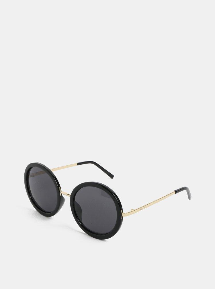 Čierne okrúhle slnečné okuliare Nalí