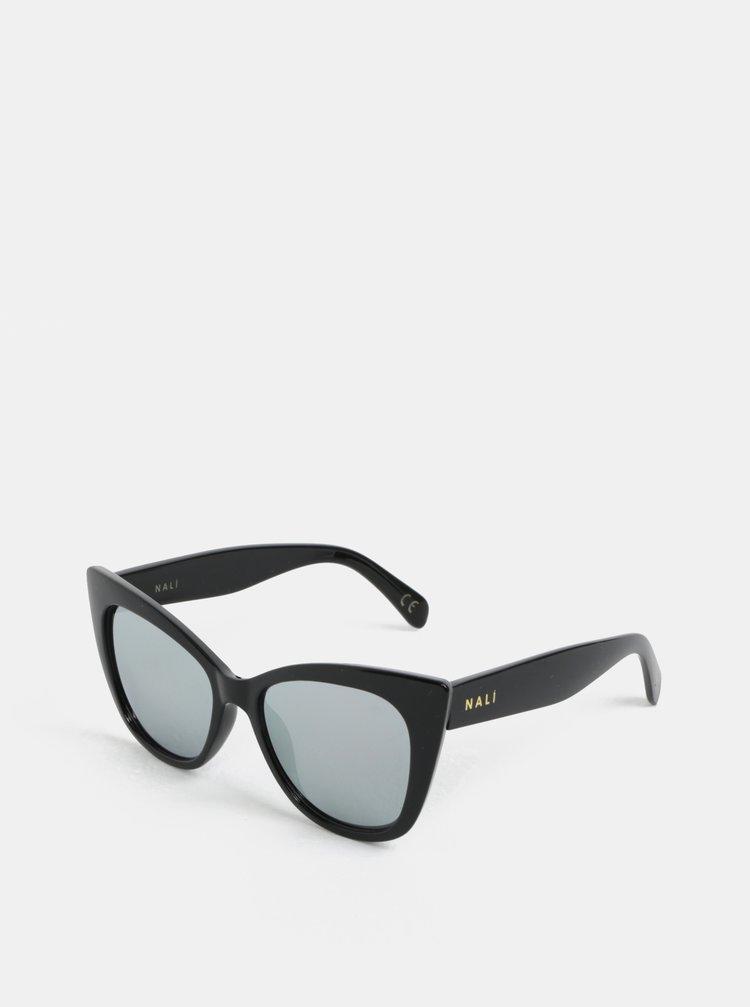 Černé hranaté sluneční brýle Nalí