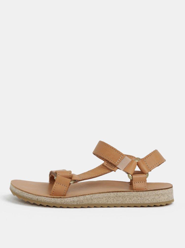 Sandale de dama maro deschis din piele Teva