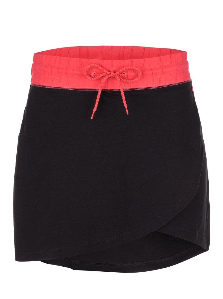 Ružovo-čierna tepláková sukňa LOAP Brionka