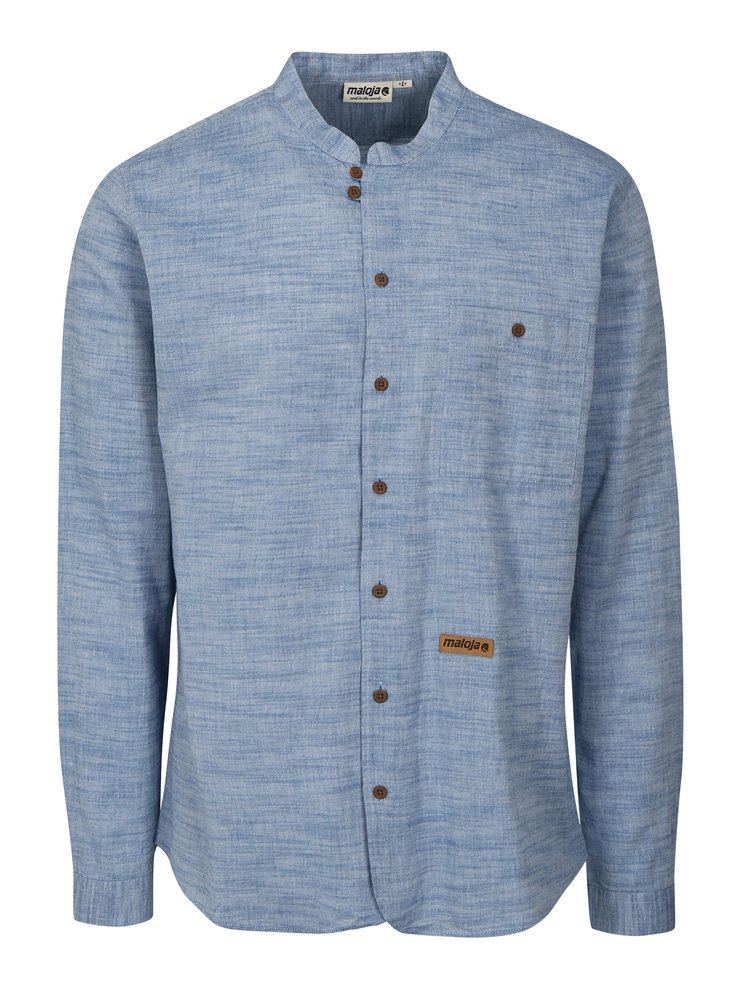 Modrá pánská žíhaná košile Maloja
