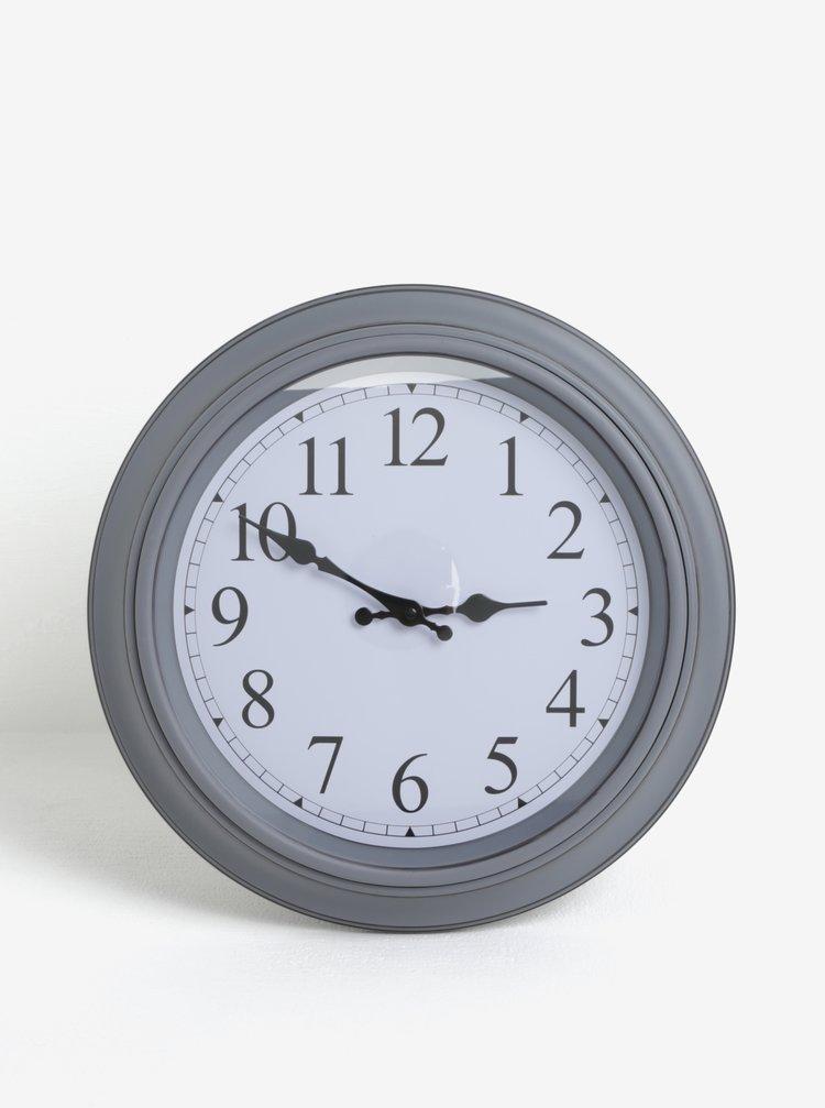 Tmavě šedé nástěnné hodiny SIFCON