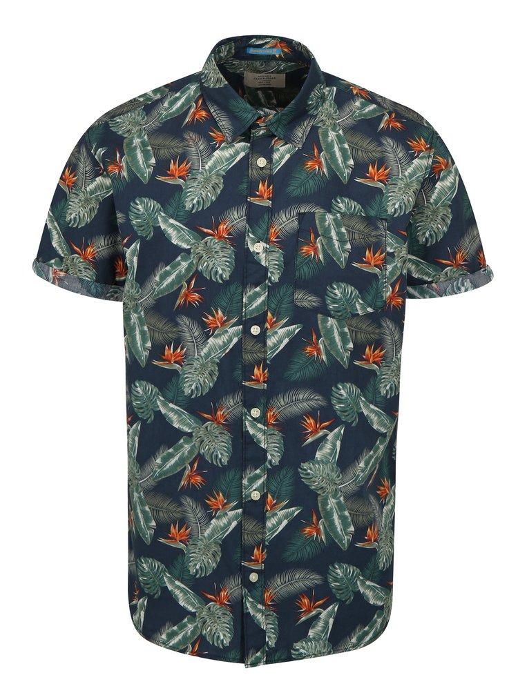 Zeleno-modrá vzorovaná košile Jack & Jones Paka