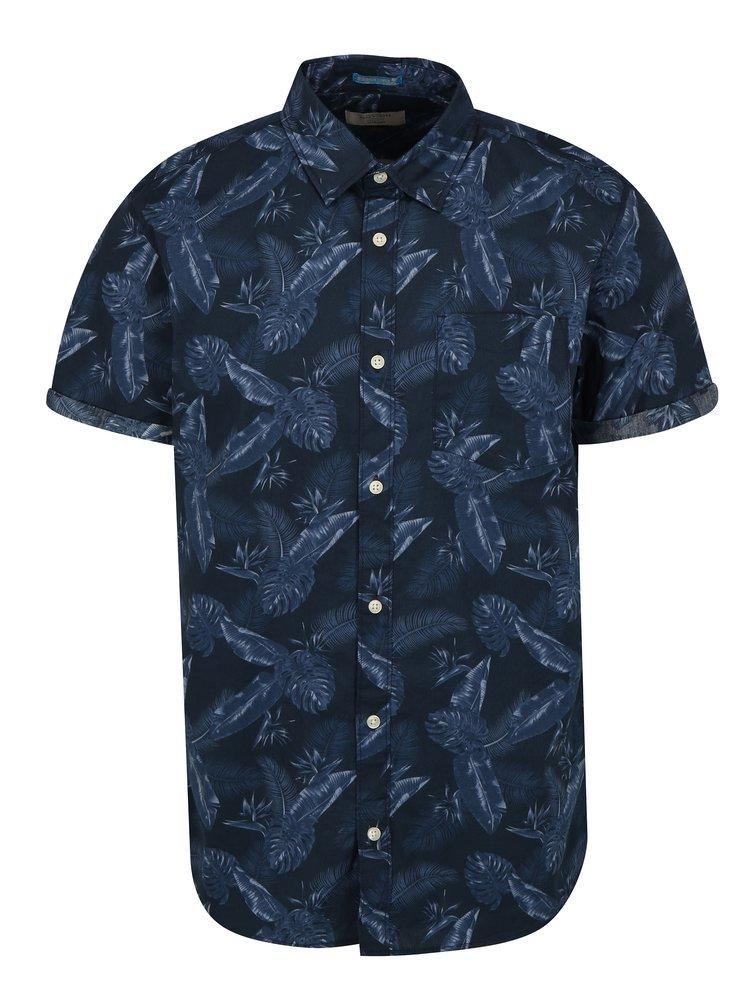 Tmavě modrá vzorovaná košile Jack & Jones Paka