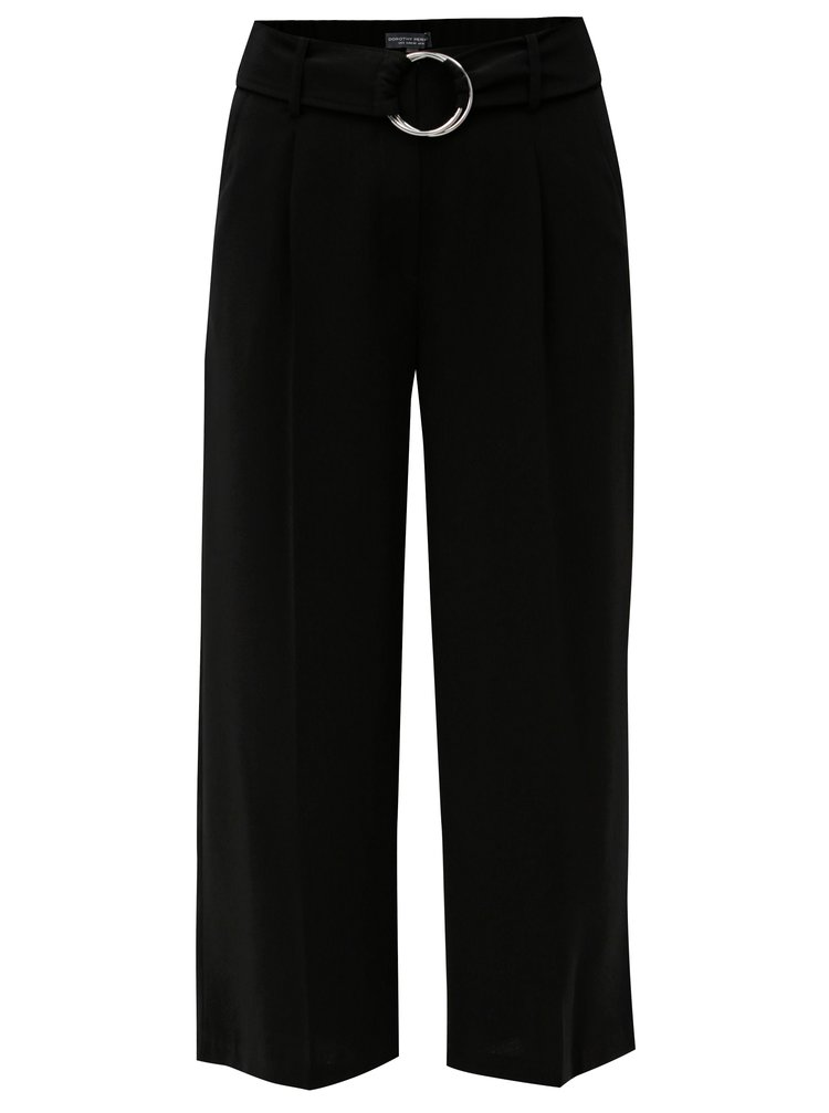Pantaloni negri cu curea Dorothy Perkins Tall