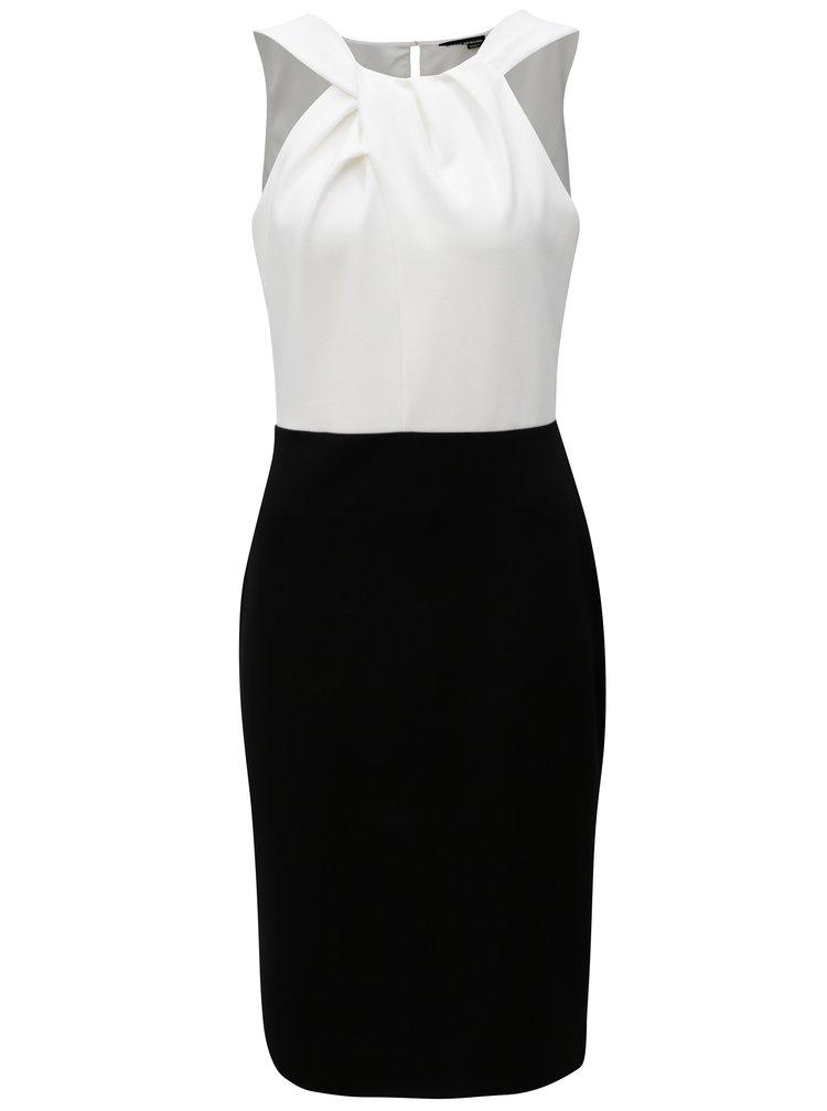 Černo-bílé pouzdrové šaty Dorothy Perkins