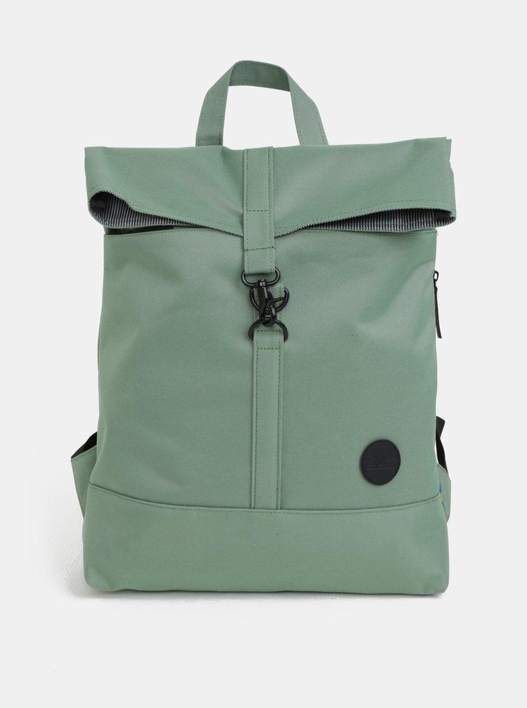 Zelený batoh s karabinou Enter City Fold 16 l