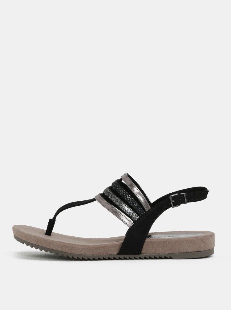 Hnědo-černé sandály Tamaris