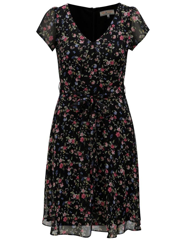 Černé květované šaty Billie & Blossom