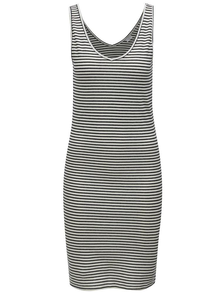 Černo-bílé pruhované šaty bez rukávů Jacqueline de Yong Christine