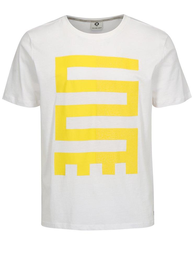 Bílé tričko s potiskem Jack & Jones Glandale