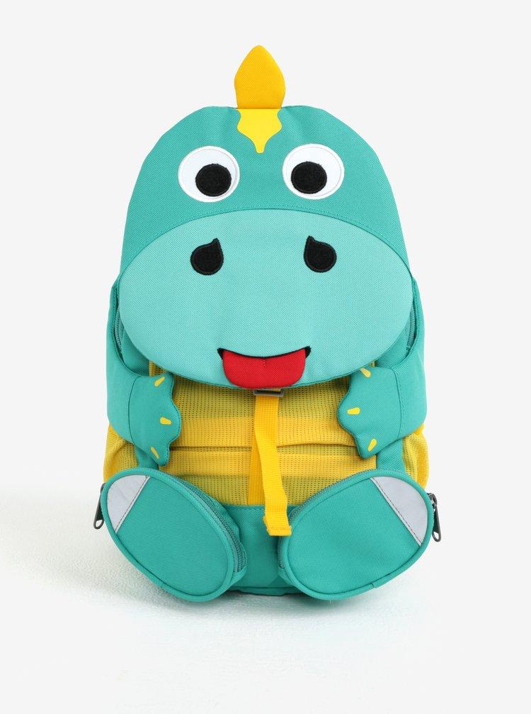 Zelený batoh ve tvaru dinosaura Affenzahn 8 l
