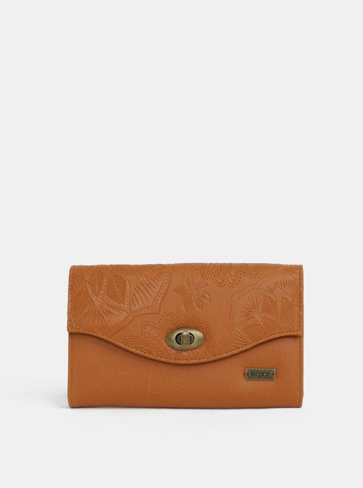 Hnědá peněženka s jemným vzorem Roxy Motel