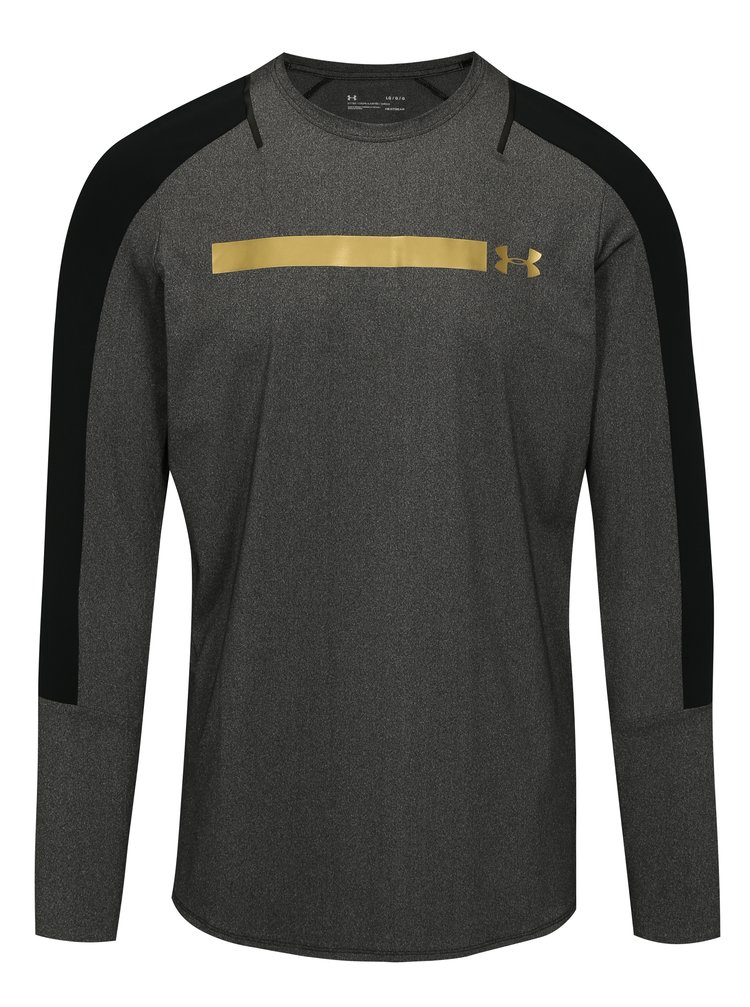 Tricou barbatesc functional negru-gri melanj Under Armour Perpetual