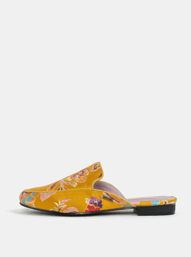 0818fe96910e5 Oranžové dámske šľapky s výšivkou kvetín Pepe Jeans Klimpt art | ZOOT.sk
