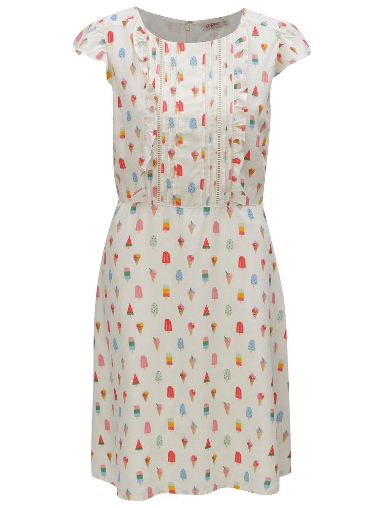 Krémové dámské šaty s motivem nanuků Cath Kidston