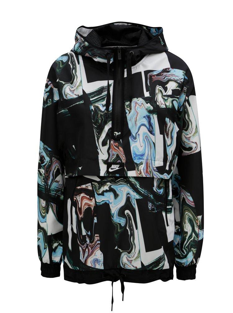 Hanorac de dama alb-negru cu model Nike