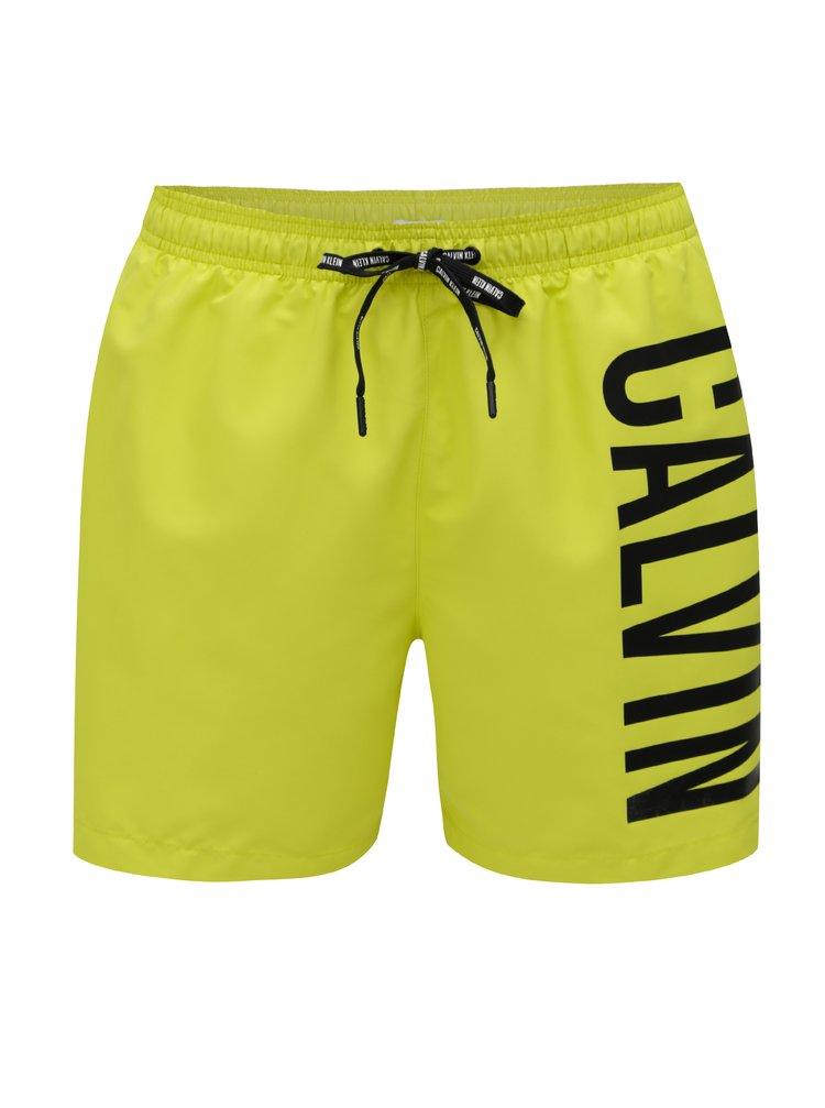Neónovožlté pánske plavky Calvin Klein Underwear