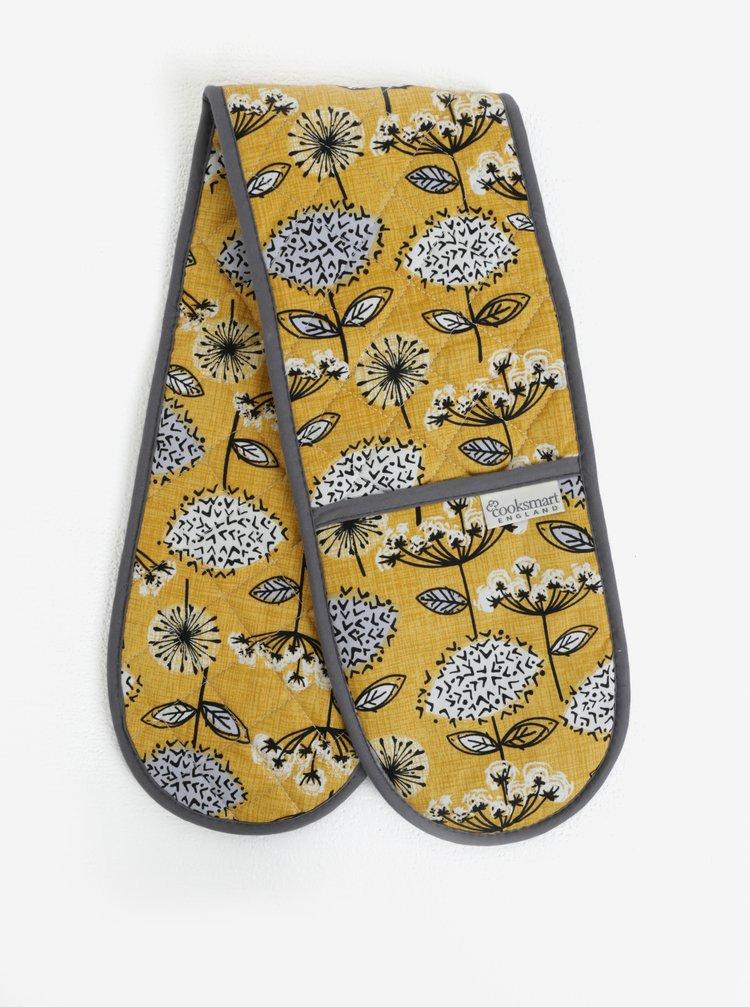 Hořčicové chňapky s květovaným motivem Cooksmart