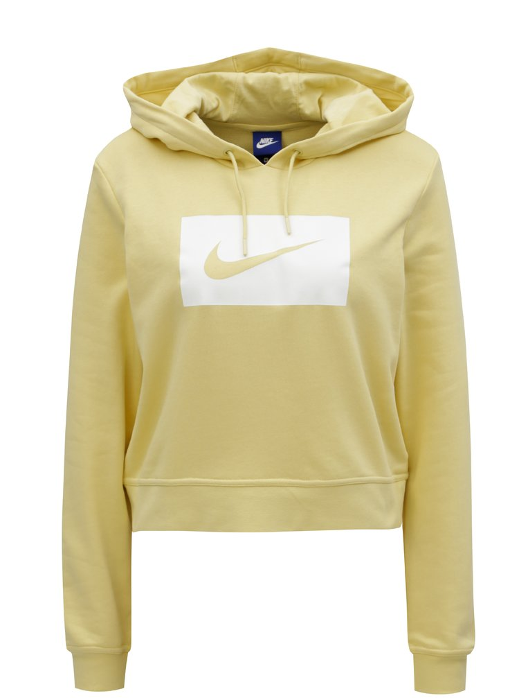 Hanorac scurt de dama galben Nike Hoodie