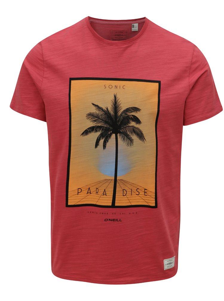 065b1388c3 ... Červené pánske regular fit tričko s potlačou O Neill Sonic
